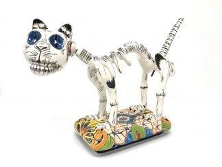 Gato esqueleto figurine