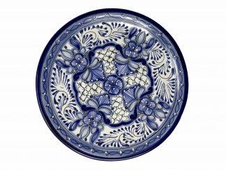 Puebla azul serving plate