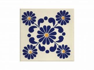 Margarita azul tile