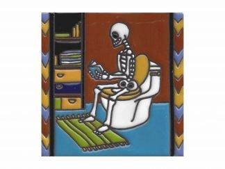 Baño y libro tile