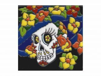 Catrina con flores tile